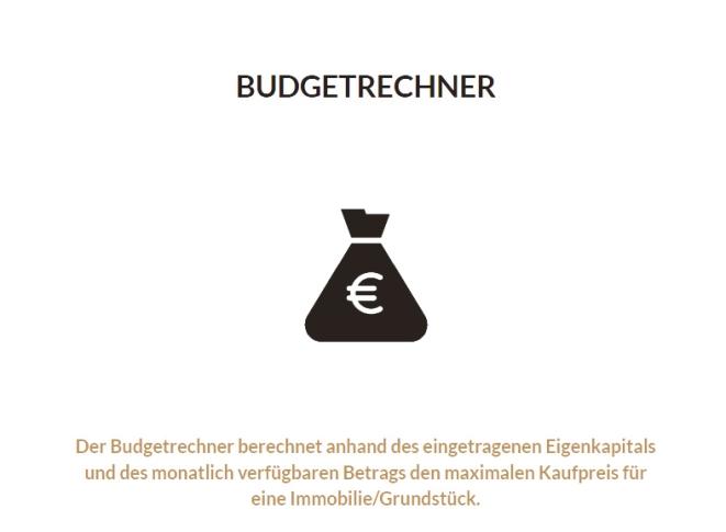 Budget Rechner Immobilie Kauf Eigenheim