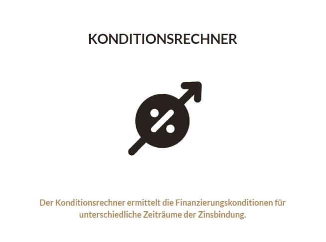 Konditionsrechner Zinsen Konditionen Kredit Immobilie Zinsrechner