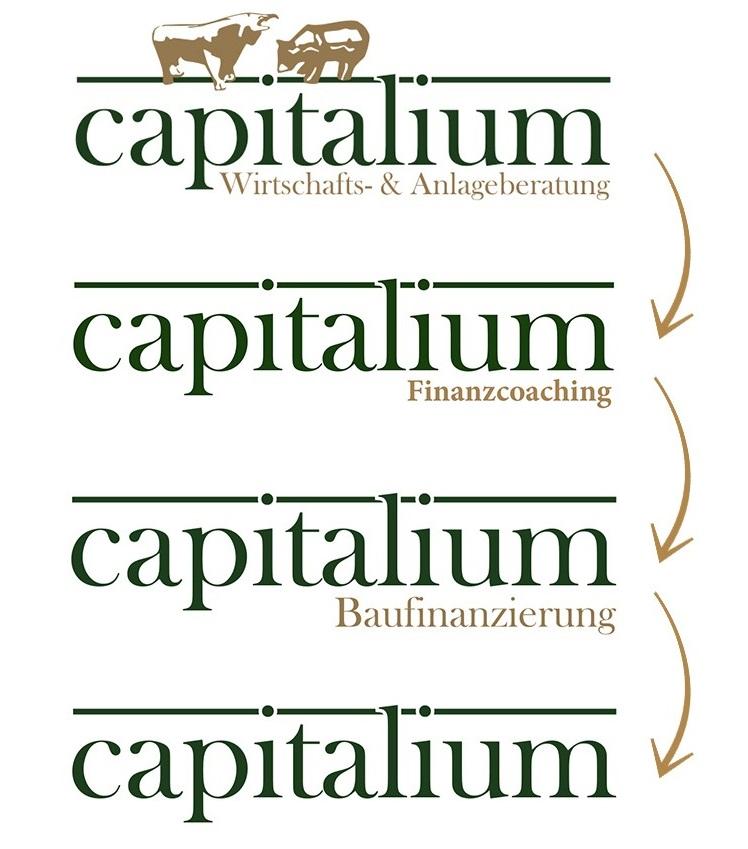 Logo Capitalium Wirtschaftsberatung Anlagenberatung Finanzcoaching Baufinanzierung